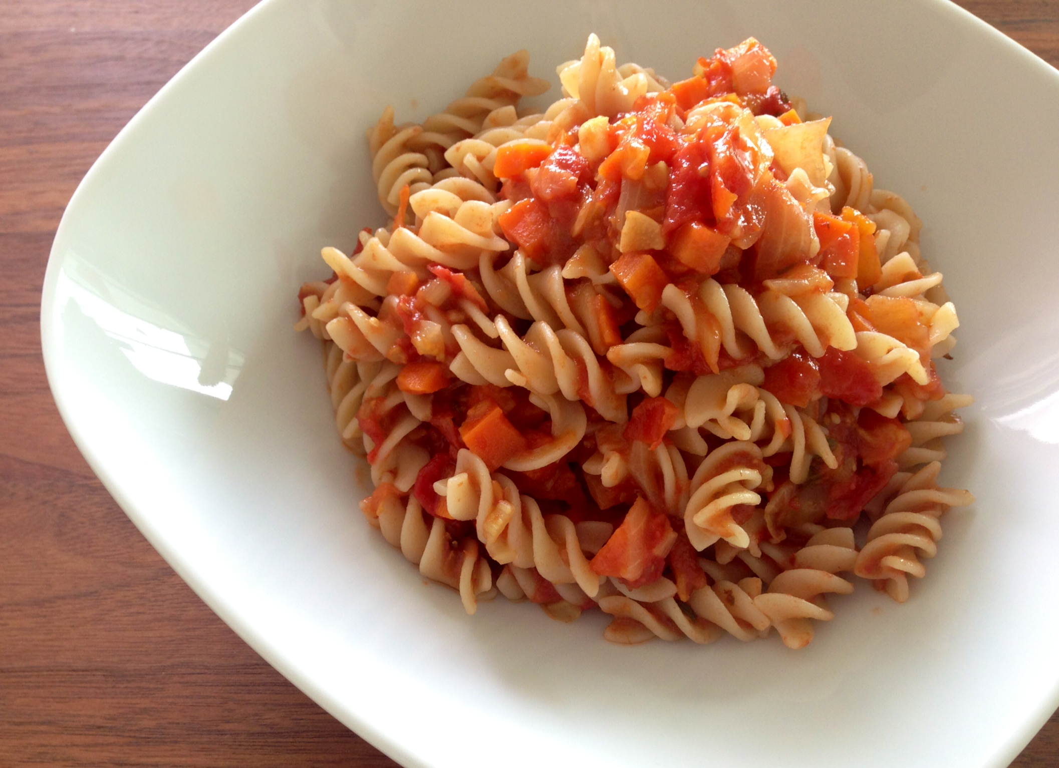 Veggies & Heirloom Tomato Pasta Sauce