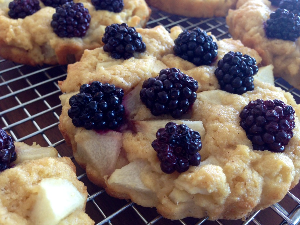 Pear & Blackberry Semolina Mini Tartes