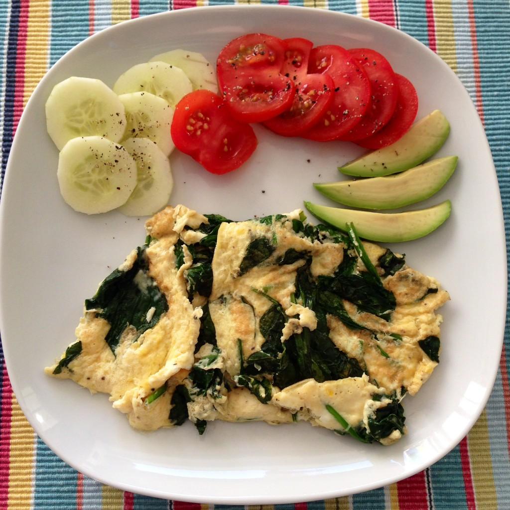 spinach omelett