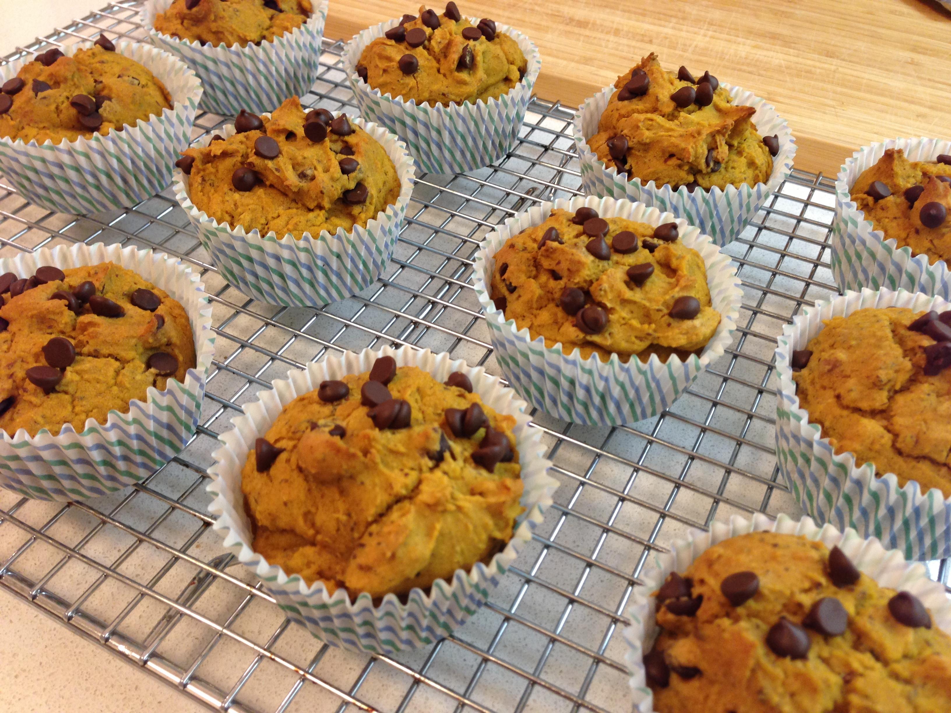Pumpkin Chocolate Chip Muffins {gf} {vg}